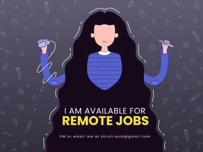 Available for Remote Jobs remote designer motion graphic banner product color flat dribbble designer minimal design ui