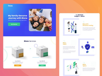 Genome Hompeage product branding logo color dribbble design minimal ui landing page design product page landing page