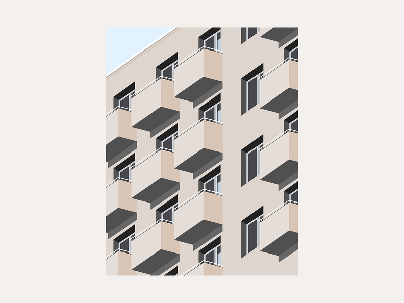 Architecture Study 2 windows illustration architecture building city warsaw vector outline future abstract