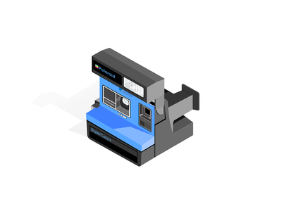 Polaroid SuperColors future vector design illustration isometric isometric illustration polaroid camera
