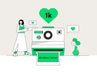 Instagram - 1 k followers