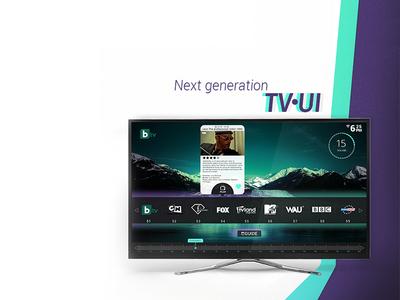 Next Generation - TV UI minimalist creative lemun digital concept innovative ux tv ui interface