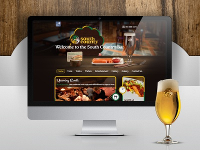 Southcountry Pub - Web Design interface creative lemun digital bar restaurant ireland pub web design
