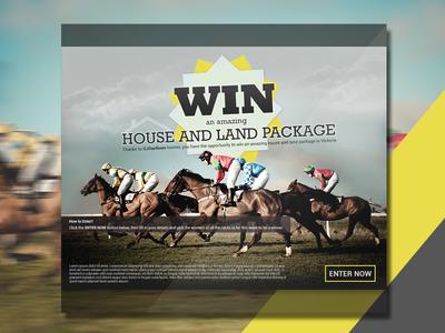 Horce Racing- Banner Design creative lemun digital cta racing horse design banner
