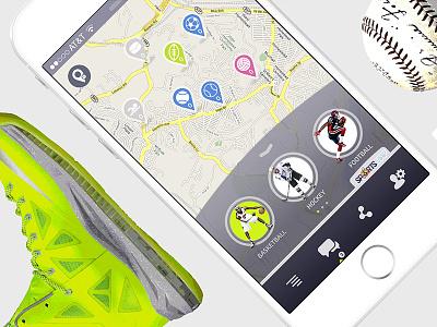 SportsMap - UI/UX lemun digital android ios mobile interface design ux ui app sports