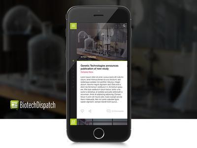 BiotechDispatch - App UI/UX bulgaria lemun digital design interface ux ui app biotech