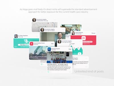 Hopp - App UI/UX lemun digital device hospital design interface healthcare telemedicine hopp