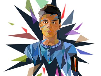 Triangulation Portrait graphic design vector triangulation portrait illustrated portrait creative illustration illustration