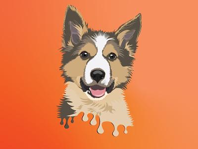 Illustrated Portrait of Pets pet illustration illustrated portrait of pets paint brushes illustration creative illustration illustrated portrait