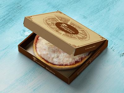 Pizza Box Design 1 pizza box box design packaging design packaging branding graphic design