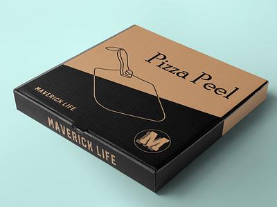 Pizza Box Design 4 graphic design packaging branding box design pizza peel box pizza peel pizza box maverick life