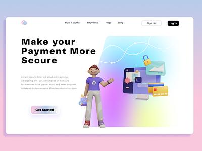 Landing page webdesign design branding ux illustration 3d ui