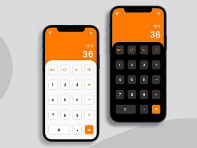 Calculator UI Design animation graphic design ux ui