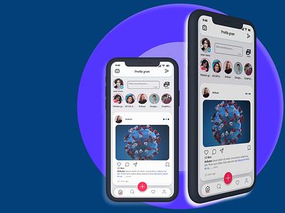 SOCIAL MEDIA APP design app ux ui