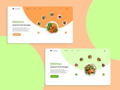 FOOD APP WEB Design and Smart Animation uichallange dailyui uiux figma smart animation web design app ui design ux