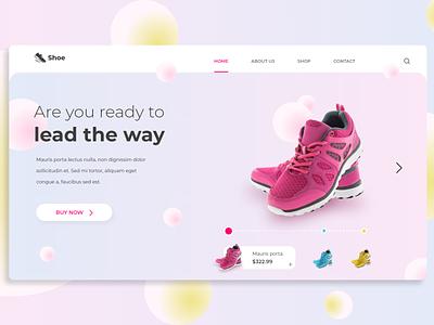 Responsive shoe ordering app design. smartanimation landing page webpage design graphic design design ux branding animation ui