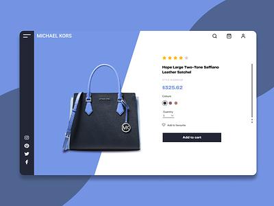 Product details page design michael kors singleproduct landingpage graphic design branding app ui design ux