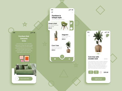 home furniture app ui design mobileapp home furniture 3d animation illustration graphic design branding ui app design ux