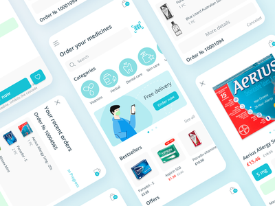 Drug Store Delivery App — Mobile zoftify pills pharmacy app pharmaceutical medicine app android design mobile ios e commerce ux ui pharmacy drugstore