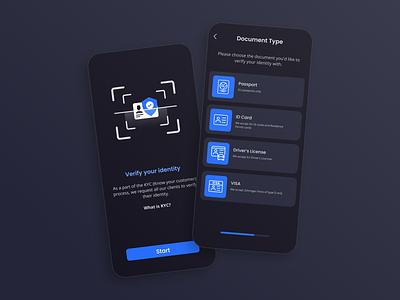 KYC & Identity Verification App  — Mobile identity verification mobile app zoftify fintech kyc verify verification ux ui mobile ios app android