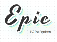 CSS Text Experiment