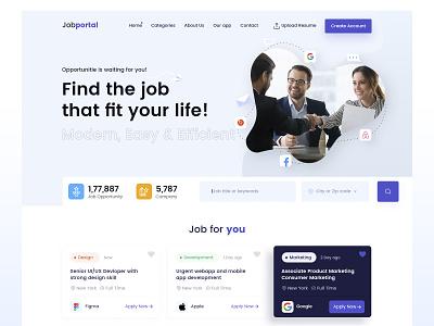 Job Portal Landing page job portal find job
