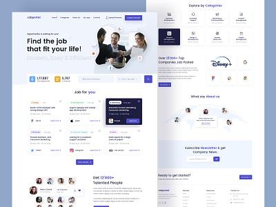 Job Portal Landing page job search find job job portal