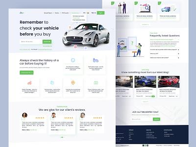 VIN Checker for car creative design car website corporate design car