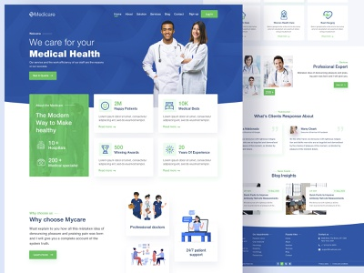 Public Health and Medical Services appointment booking health website creative landing page health service medical website