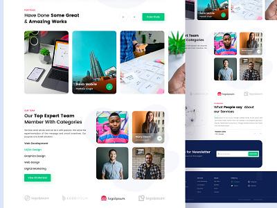 Digital Agency Landing Page Design landing page design saas clean morden creative website digital website home page home page landing page
