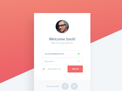 Sign in form user interface 001 dailyui login form widget web ui