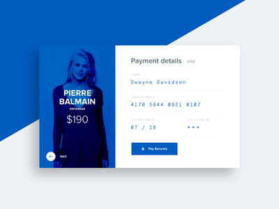 Credit Card Checkout user interface store widget web checkout card credit item form dailyui 001