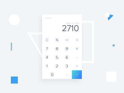 Calculator App interface ux ap ios form simple design ui dailyui calculator