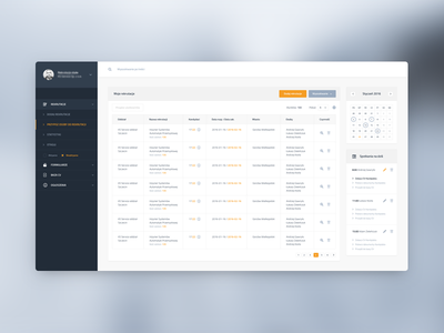 Recruiter dashboard todo table admin infographic flat data statistics interface ux dashboard minimal ui