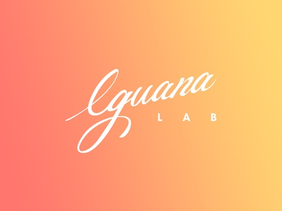 Iguana Lab logodesign colors branding handwrite caligraphy logo logodesign