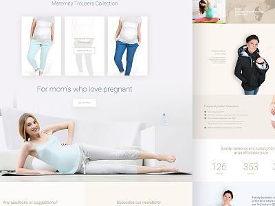 Fun2bemum - landing page landing page web website shop one love colors shipping ui ux design