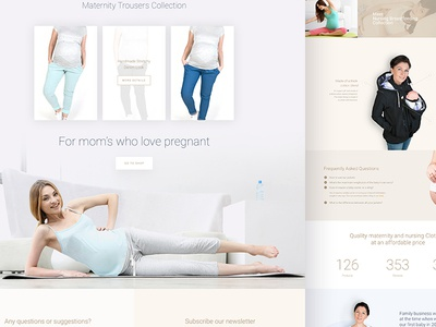 Fun2bemum - landing page landing page web website shop one love colors shipping ui ux design
