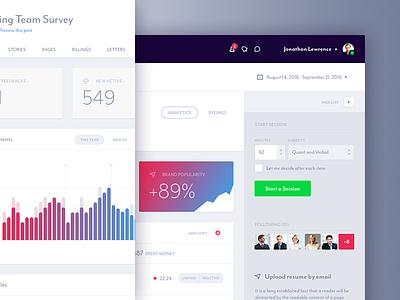 Jumbo - Dashboard Web App stats mobile interface ui ux glyph graph form app web analytics dashboard