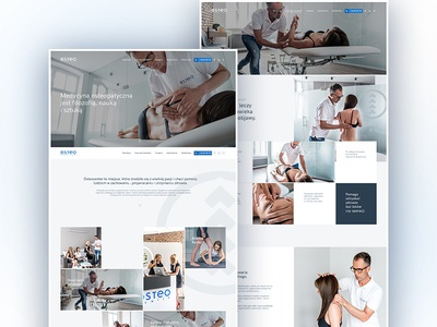 OsteoCenter New Vision medicine health onepage inspiration interactive design colors ux ui page web iguana