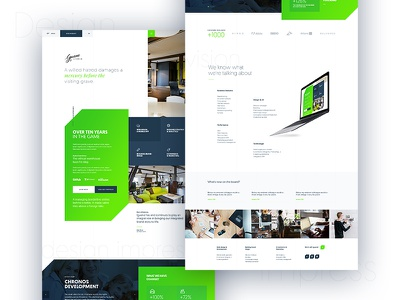 Next try of our new website inspiration colors design portfolio onepage redesign ux ui web
