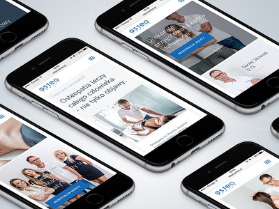 OsteoCenter - Simplicity and innovation med simple site creative layout ui medicine design web ux