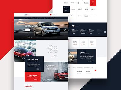 PZWLP layout design creative ux ui colors webdesign site simple unique car web