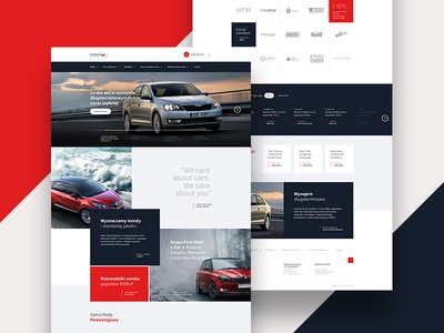 PZWLP layout design creative ux ui colors webdesign site simple unique car web