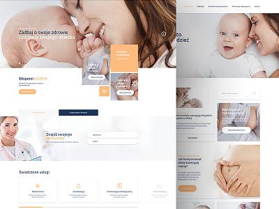 UCZKiN hospital medic webdesign web ux unique ui site layout design creative colors