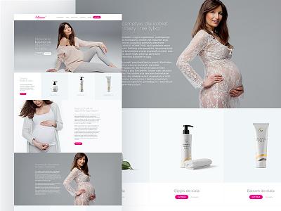 Bellamama website web ux ui project page one love landing design colors