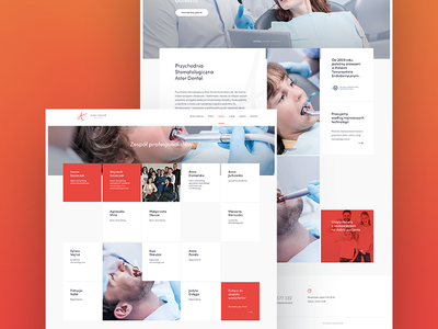 Asterdental website web ux ui project page one love landing design colors