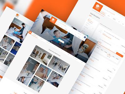 Medpolonia - screens page website medicine ux ui web landing design colors