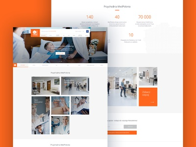 Medpolonia - homepage website web ux ui page medicine landing design colors
