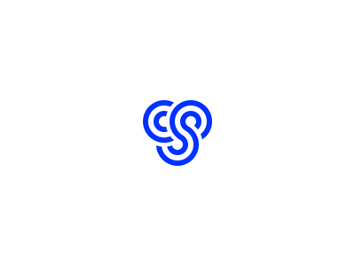 Final Logomark simple branding brand cs s c circles blue logomark logo