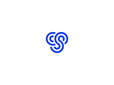Final Logomark simple branding brand cs s c circles blue logomark logo